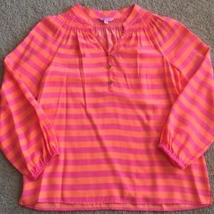 Lilly Pulitzer silk blouse size Small